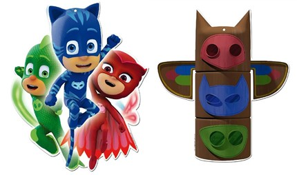 MINI FIGURA CARTÓN PJMASKS