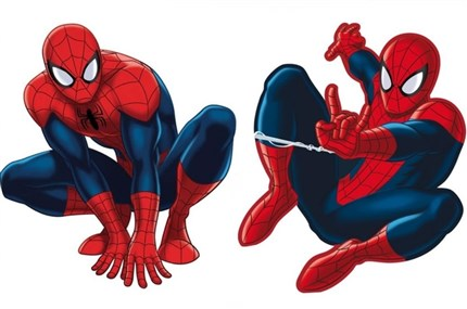 2 MINI SILUETAS SPIDERMAN