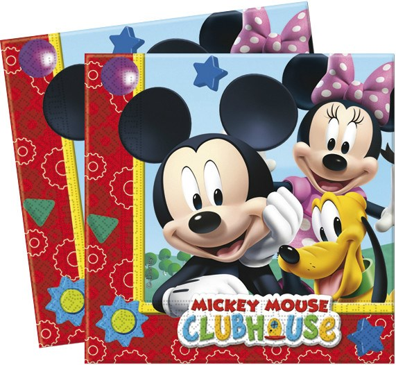 SERVILLETAS MICKEY CLUBHOUSE