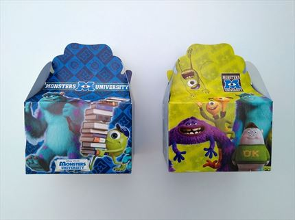 CAJA VACIA CARTON MONSTERS UNIVERSITY