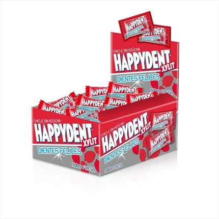 CHICLES HAPPYDENT XYLIT SABOR FRESA