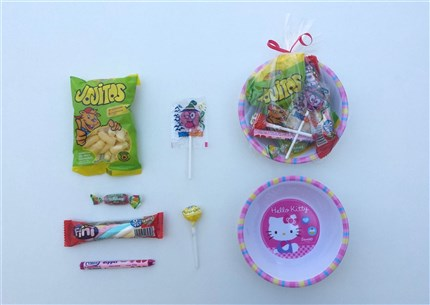 CUENCOS HELLO KITTY CON CHUCHES