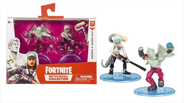 FORTNITE PACK DE FIGURAS - LOVE RANGER & TEKNIQUE