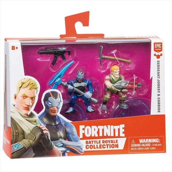 FORTNITE PACK DE FIGURAS - SERGEANT JONESY & CARBIDE