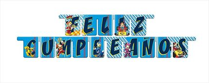 GUIRNALDA FELIZ CUMPLEAÑOS MICKEY AND THE ROADSTER RACERS