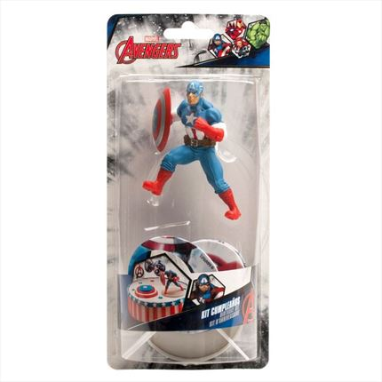 KIT DECORACION CAPITAN AMERICA