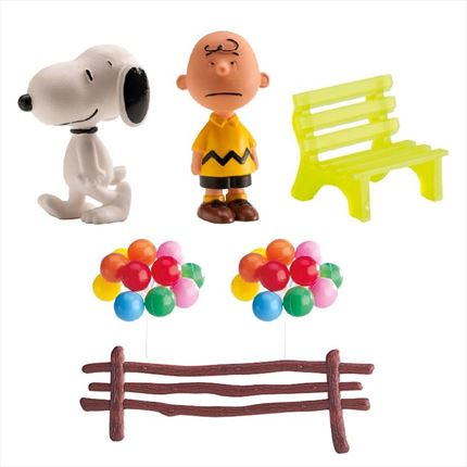 KIT DECORACION DE SNOOPY Y CHARLIE BROWN