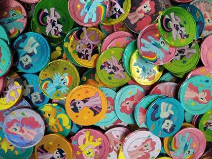 MONEDAS DE CHOCOLATE DE MY LITTLE PONY