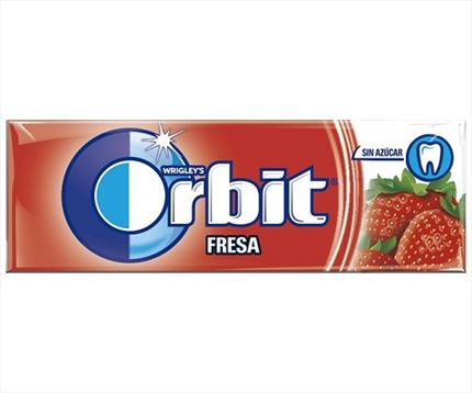 CHICLES DE GRAGEAS SABOR FRESA DE ORBIT