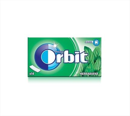 CHICLES ORBIT HIERBABUENA TABS
