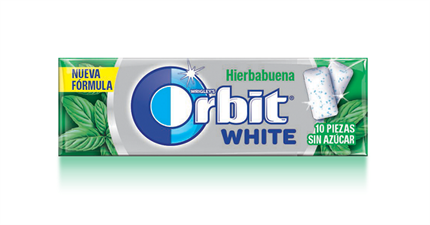 CHICLES ORBIT WHITE HIERBABUENA