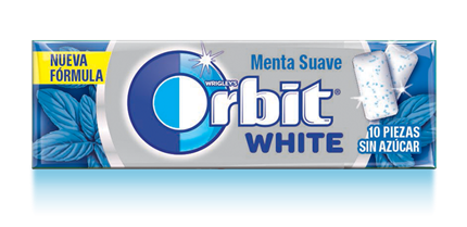 CHICLES ORBIT WHITE MENTA SUAVE