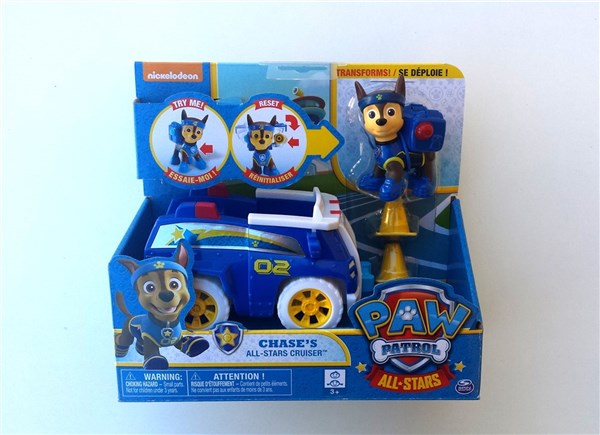 PATRULLA CANINA ALL STARS - VEHICULO Y FIGURA CHASE