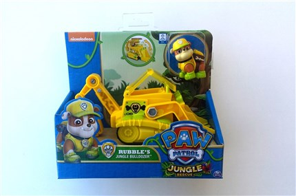 PATRULLA CANINA JUNGLE VEHICULO Y FIGURA RUBBLE