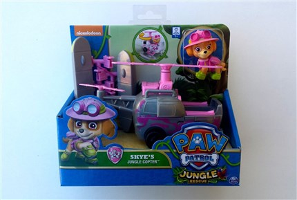 PATRULLA CANINA JUNGLE - VEHICULO Y FIGURA SKYE