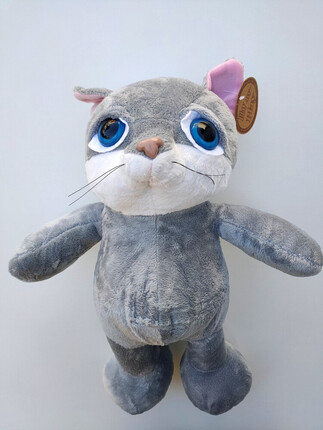 GATO DE PELUCHE GRIS PLAY BY PLAY