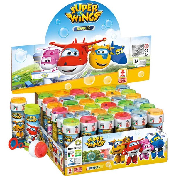POMPEROS SUPER WINGS. ESTUCHE DE 36 UNIDADES.