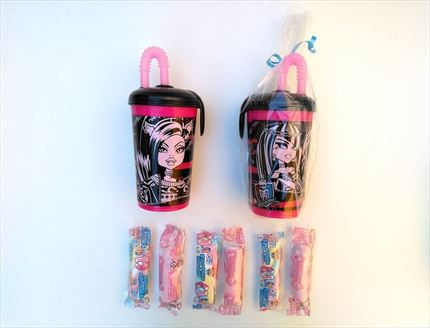 VASO CON ROSCA MONSTER HIGH