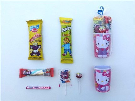 VASOS MELAMINA CON CHUCHES HELLO KITTY