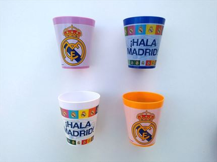 VASO PLASTICO REAL MADRID