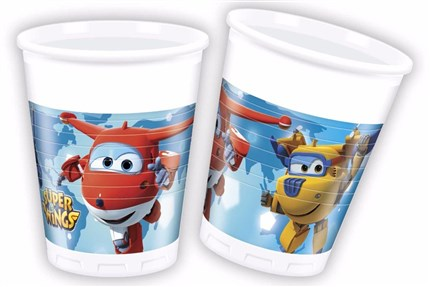 VASOS SUPER WINGS DE PLASTICO