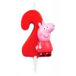 Vela Peppa Pig Numero Dos